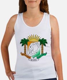 Ivory Coast or Cote d'Ivoire Coat of Arms Tank Top