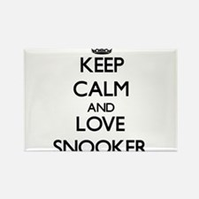 Keep calm and love Snooker Magnets