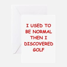 golfer Greeting Cards