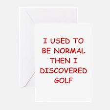 golfer Greeting Cards