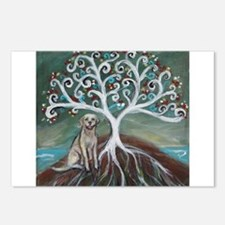 Yellow Labrador Tree of Life Postcards (Package of