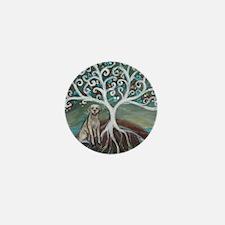Yellow Labrador Tree of Life Mini Button