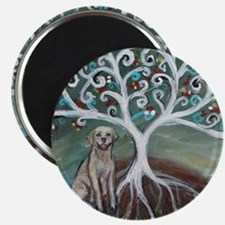 Yellow Labrador Tree of Life Magnets