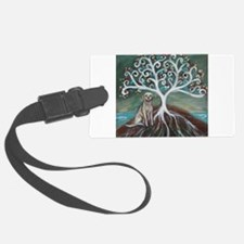 Yellow Labrador Tree of Life Luggage Tag