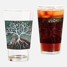 Yellow Labrador Tree of Life Drinking Glass