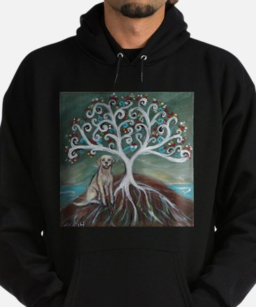 Yellow Labrador Tree of Life Hoody