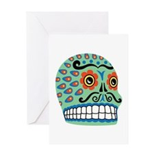 Day Of The Dead Sugar Skull Greeting Cards