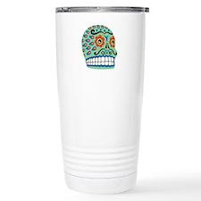 Day Of The Dead Sugar Skull Travel Mug