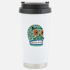 Day Of The Dead Sugar Skull Travel Mug