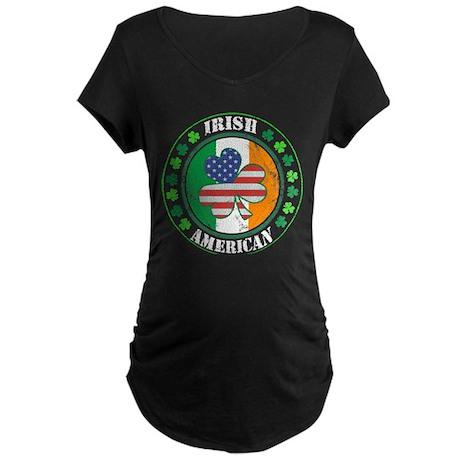 Irish American Maternity Dark T-Shirt