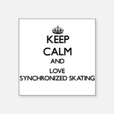 Keep calm and love Synchronized Skating Sticker