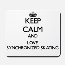 Keep calm and love Synchronized Skating Mousepad