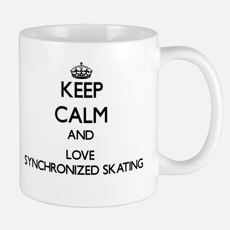 Keep calm and love Synchronized Skating Mugs