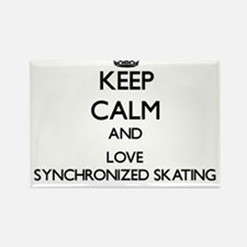 Keep calm and love Synchronized Skating Magnets