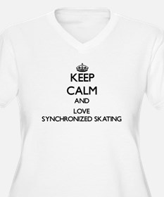 Keep calm and love Synchronized Skating Plus Size