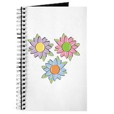 Pretty Mother's Day Cartoon Flowers Journal