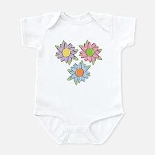Pretty Mother's Day Cartoon Flowers Infant Bodysui