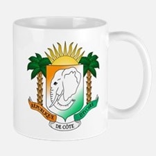 Ivory Coast or Cote d'Ivoire Coat of Arms Mugs