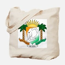Ivory Coast or Cote d'Ivoire Coat of Arms Tote Bag