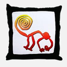 Nazca Monkey (sunset) Throw Pillow