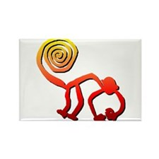 Nazca Monkey (sunset) Rectangle Magnet (100 pack)