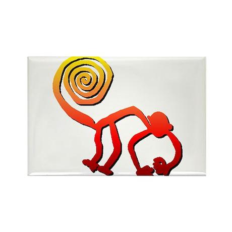 Nazca Monkey (sunset) Rectangle Magnet (100 pack)