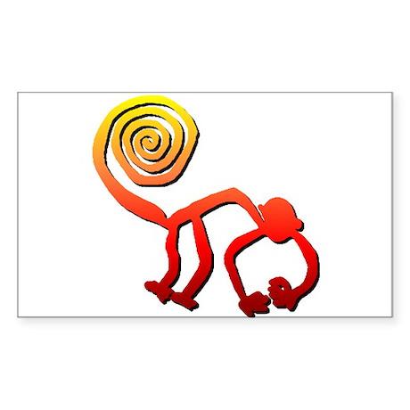 Nazca Monkey (sunset) Rectangle Sticker