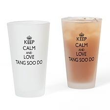 Keep calm and love Tang Soo Do Drinking Glass