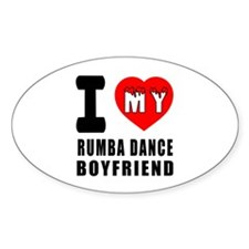 I Love My Rumba Dance Boyfriend Decal
