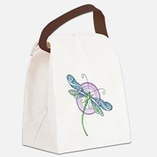 Whimsical Dragonfly Canvas Lunch Bag