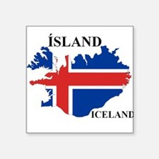 IcelandFlagMap Sticker