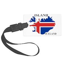 IcelandFlagMap Luggage Tag
