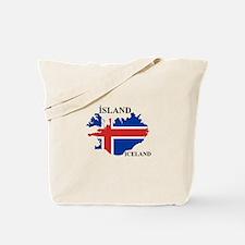 IcelandFlagMap Tote Bag