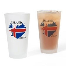 IcelandFlagMap Drinking Glass