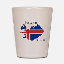IcelandFlagMap Shot Glass