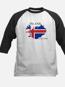 IcelandFlagMap Baseball Jersey