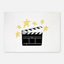 Action Clapperboard 5'x7'Area Rug