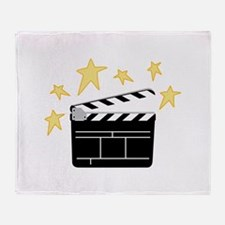 Action Clapperboard Throw Blanket