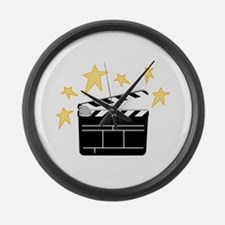 Action Clapperboard Large Wall Clock