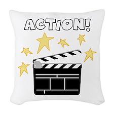 Action Woven Throw Pillow