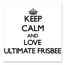 Keep calm and love Ultimate Frisbee Square Car Mag