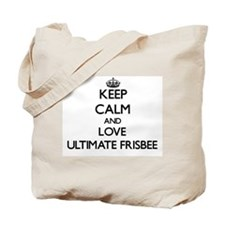 Keep calm and love Ultimate Frisbee Tote Bag