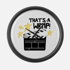 Thats a Wrap Large Wall Clock