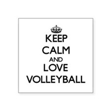 Keep calm and love Volleyball Sticker