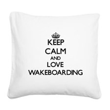 Keep calm and love Wakeboarding Square Canvas Pill