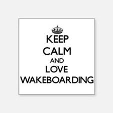 Keep calm and love Wakeboarding Sticker