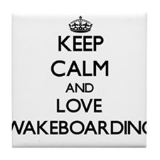 Keep calm and love Wakeboarding Tile Coaster