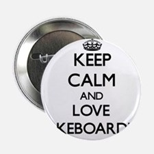 """Keep calm and love Wakeboarding 2.25"""" Button"""