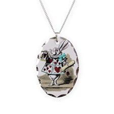 Alice In Wonderland Rabbit Her Necklace Oval Charm