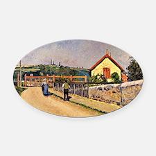 Pissarro - Railroad Crossing at Le Oval Car Magnet